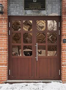Дверь алюминиевая Alutech W62